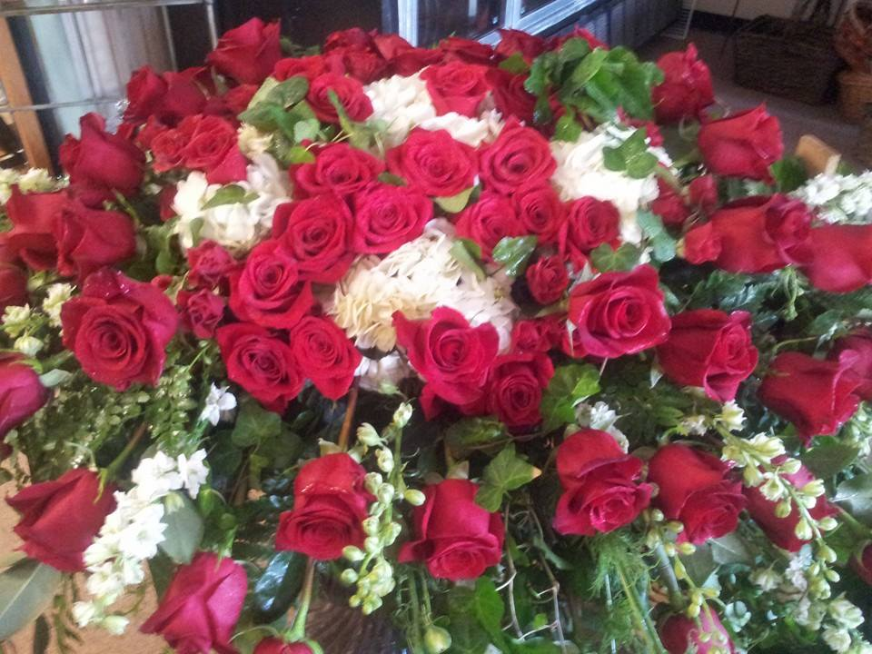 Magnificent sympathy arrangement from Forget-Me-Not Flowers and Gifts in Chandler, TX