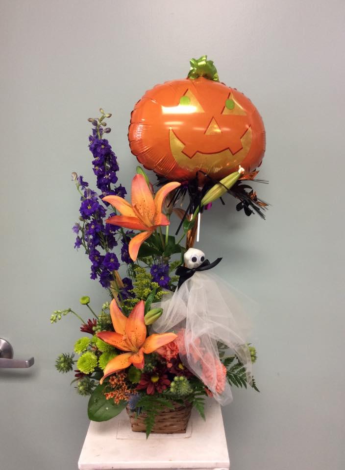 Proffering a 'Happy Halloween' from Brenham Floral Company in Brenham, TX