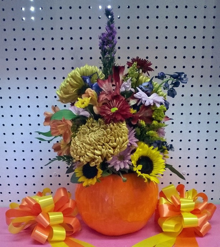Seasonal arrangement from Wilma's Flowers in Jasper, AL
