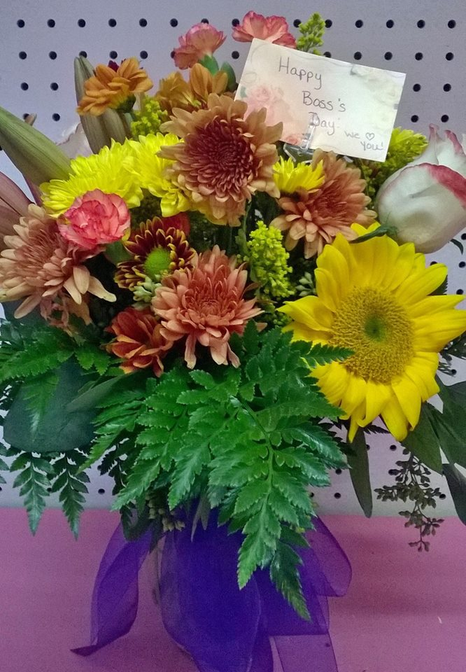 Some Boss's Day flowers from Wilma's Flowers in Jasper, AL