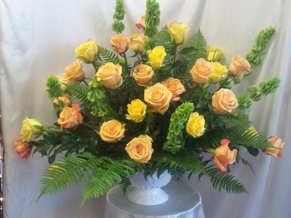 Sympathy arrangement from Forget-Me-Not Flowers and Gifts in Chandler, TX