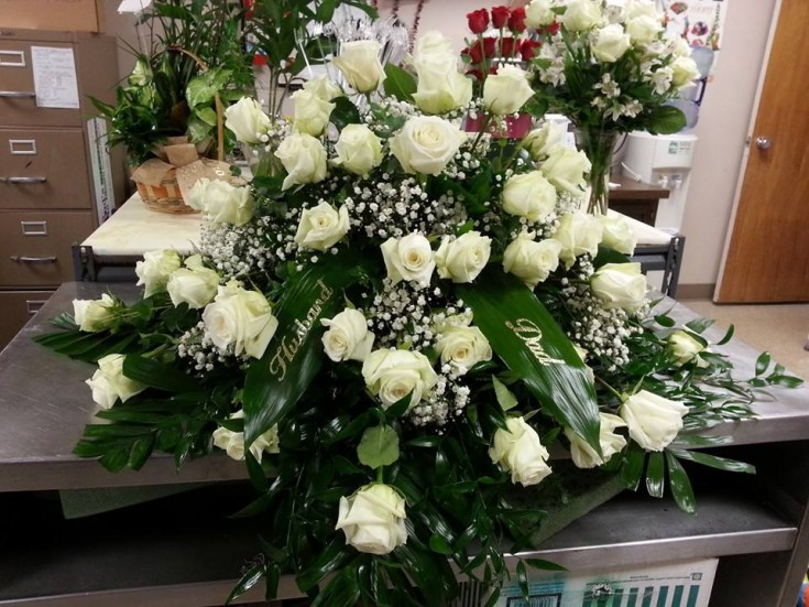 Sympathy spray from Bud's In Bloom Floral & Gift in New Albany, IN