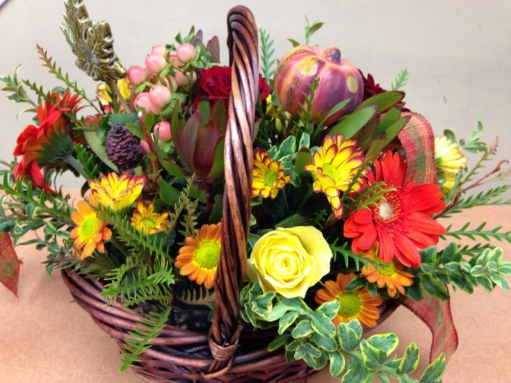 Using gorgeous colors at Oak Bay Flower Shop Ltd. in Victoria, BC