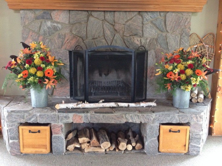 Wedding fireplace from Petals in Thyme of Wasaga Beach, ON