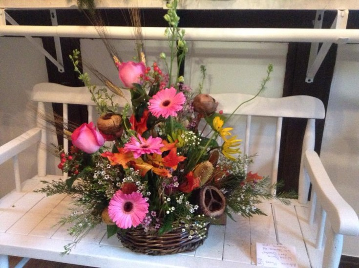 Welcoming design from Sweet Briar Flower Shop in Galway, NY