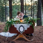 Amazing winter hunt wedding shoot from Klamath Flower Shop in Klamath Falls, OR