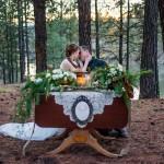 Amazing winter hunt wedding shoot from Klamath Flower Shop in Klamath Falls, OR