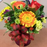 Cheerful arrangement from Oak Bay Flower Shop Ltd. in Victoria, BC