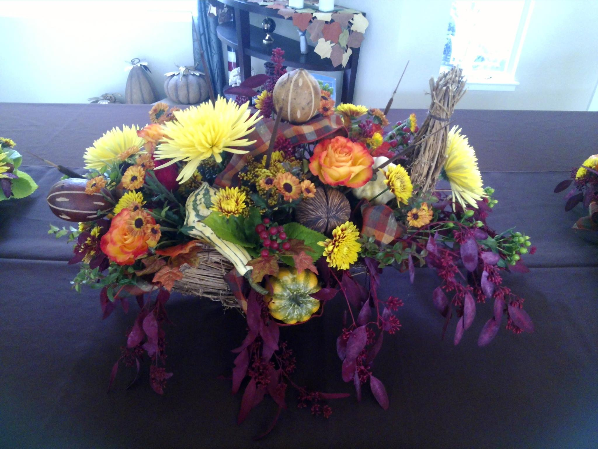 Gorgeous fall design from Auburn Country Florist in Grass Valley, CA