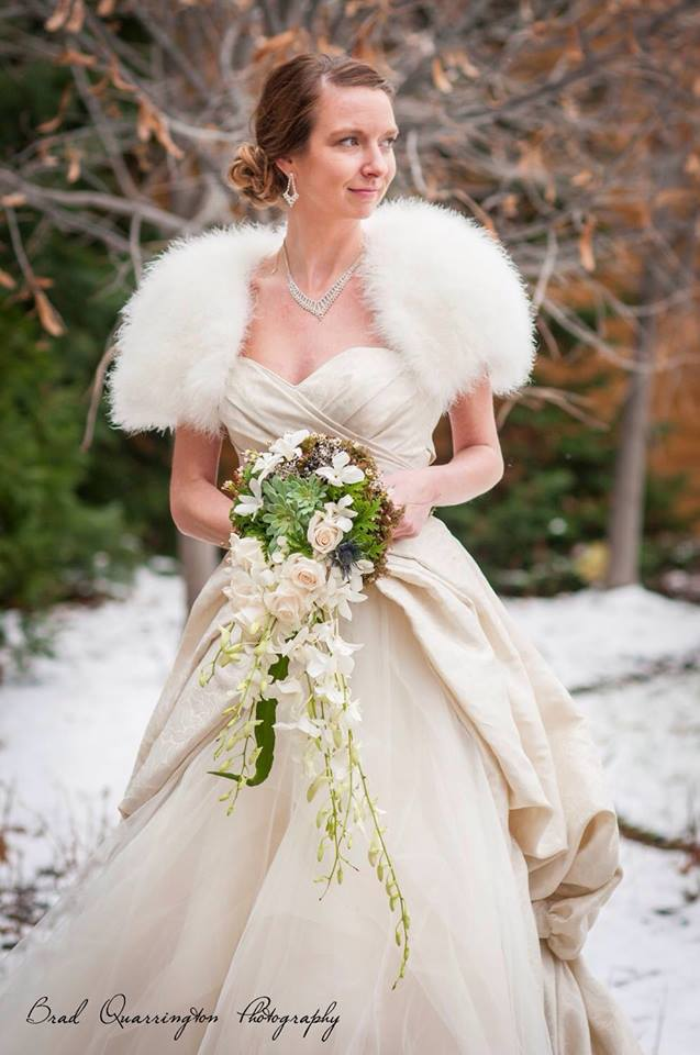 Gorgeous wedding show work from Petals in Thyme of Wasaga Beach, ON
