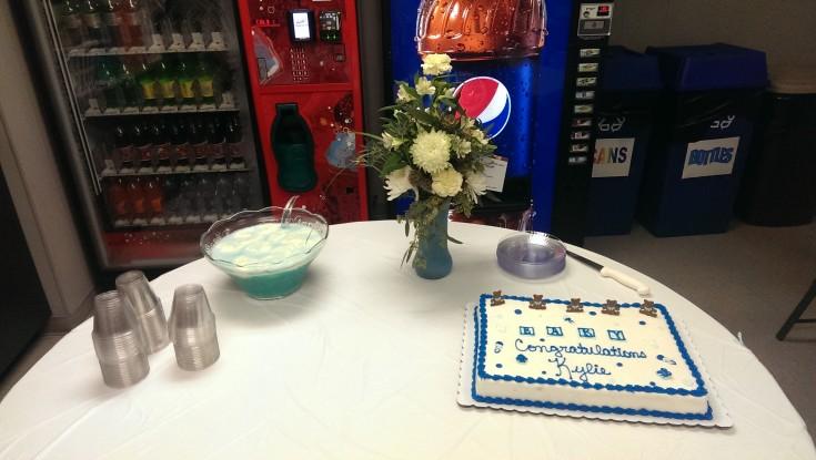 cake and arrangement