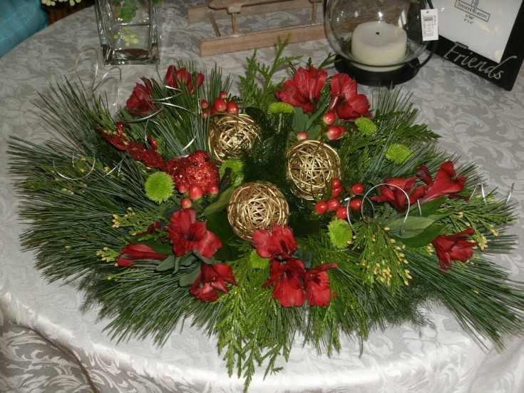 Magnificent floral centerpiece from Flowers For You, By Diana in Beeton, ON