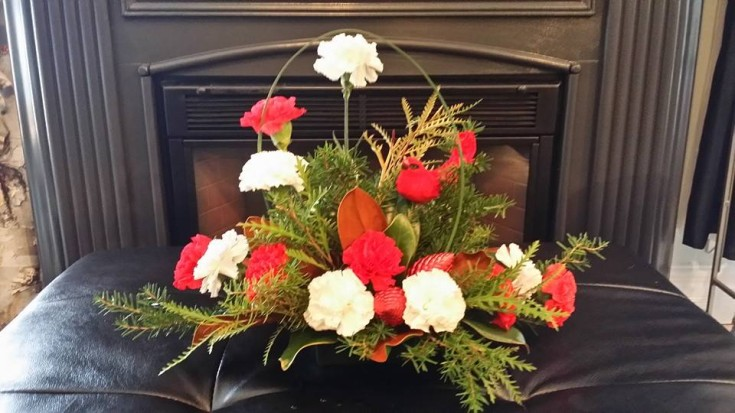 A gift from secret santa by BlueShores Flowers and Gifts in Wasaga Beach, ON