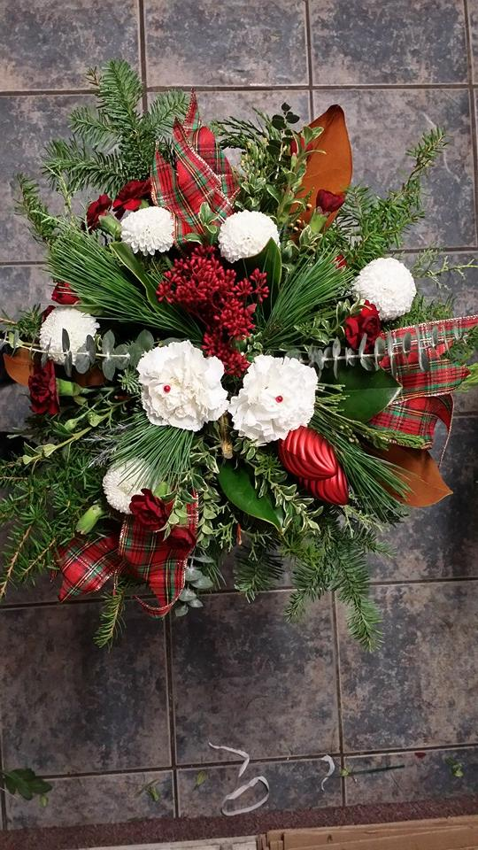 A study in plaid with BlueShores Flowers & Gifts in Wasaga Beach, ON
