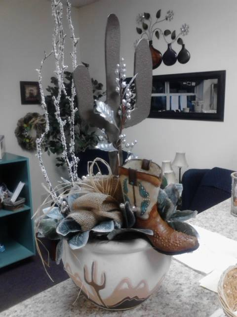 A western Christmas from Front Porch Creations Florist in Crawfordsville, FL