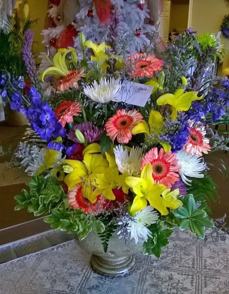 An explosion of color from Wilma's Flowers in Jasper, AL