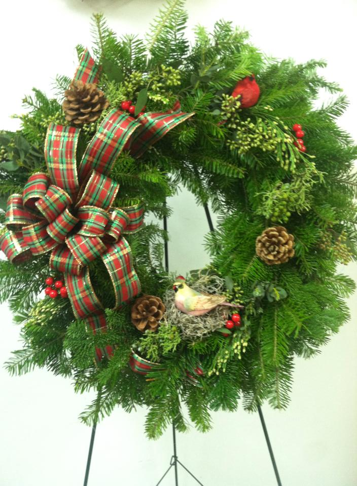 Another gorgeous wreath from Works of Heart Flowers in Wilton, NH