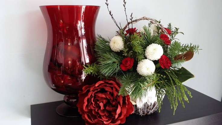 Arrangement with accessories at BlueShores Flowers & Gifts in Wasaga Beach, ON