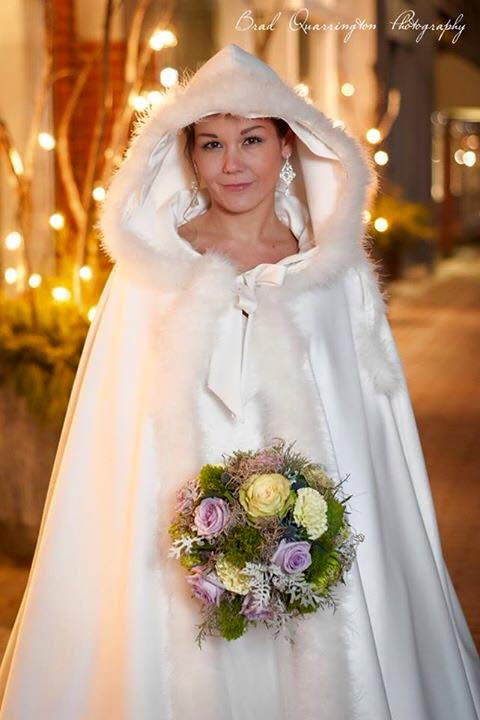 Beautiful bridal design for a photo shoot from Petals in Thyme of Wasaga Beach, ON
