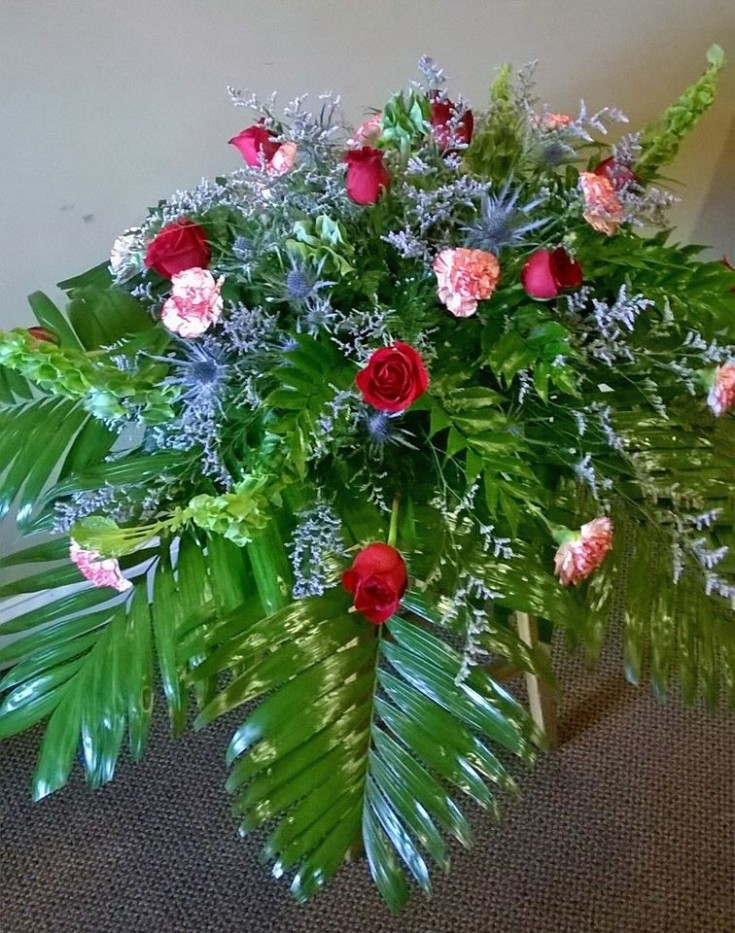 Beautiful spray from Wilma's Flowers in Jasper, AL