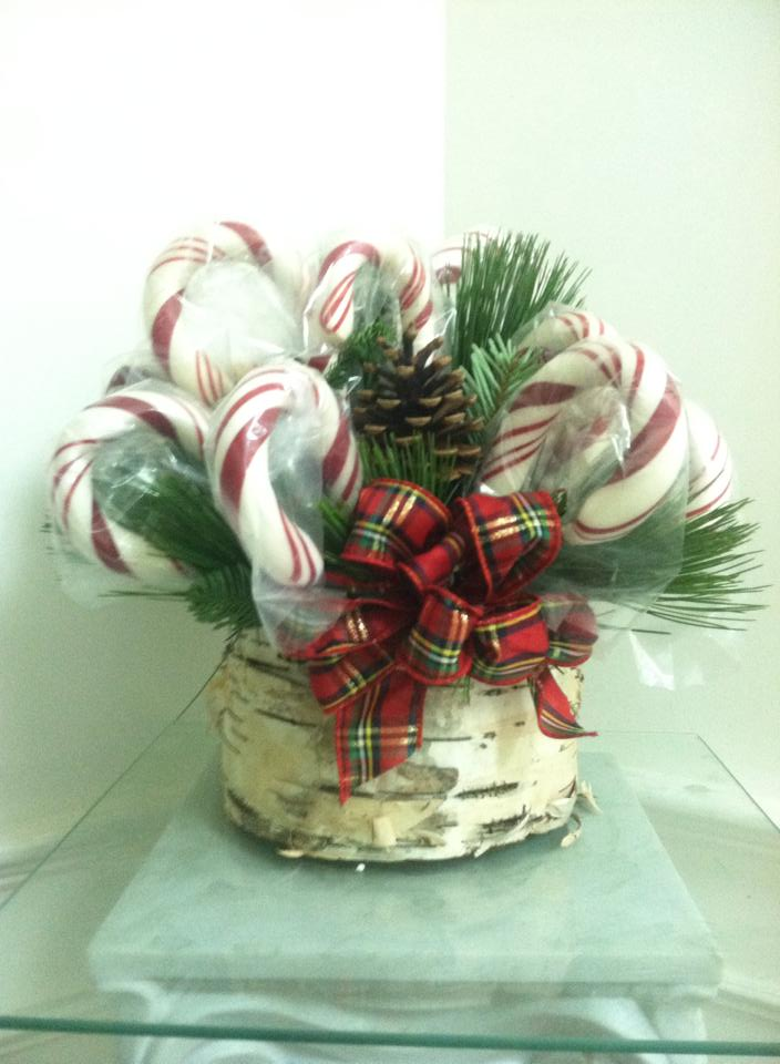Candy cane magic from Works of Heart Flowers in Wilton, MN