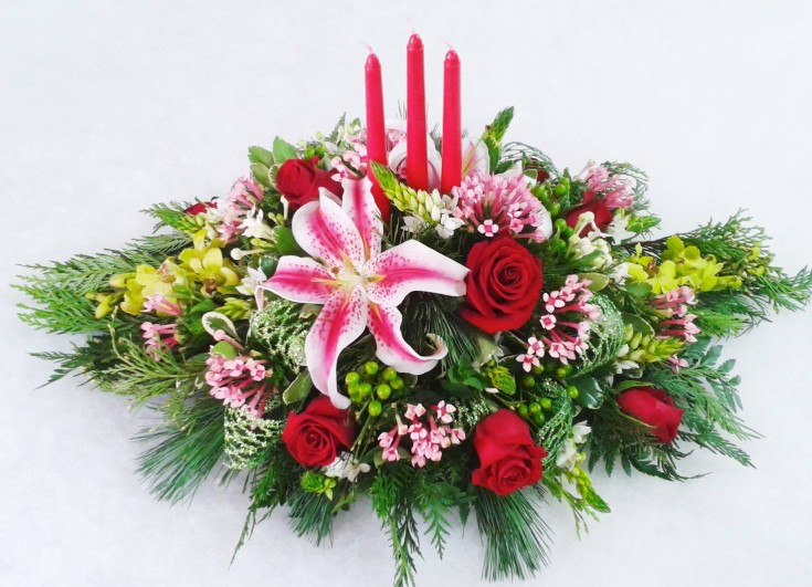 Christmas elegance from Marshfield Blooms in Marshfield, MO
