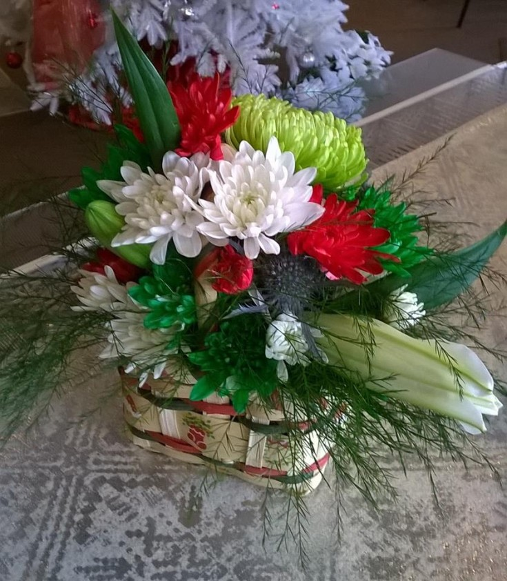 Colorful basket from Wilma's Flowers in Jasper, aL