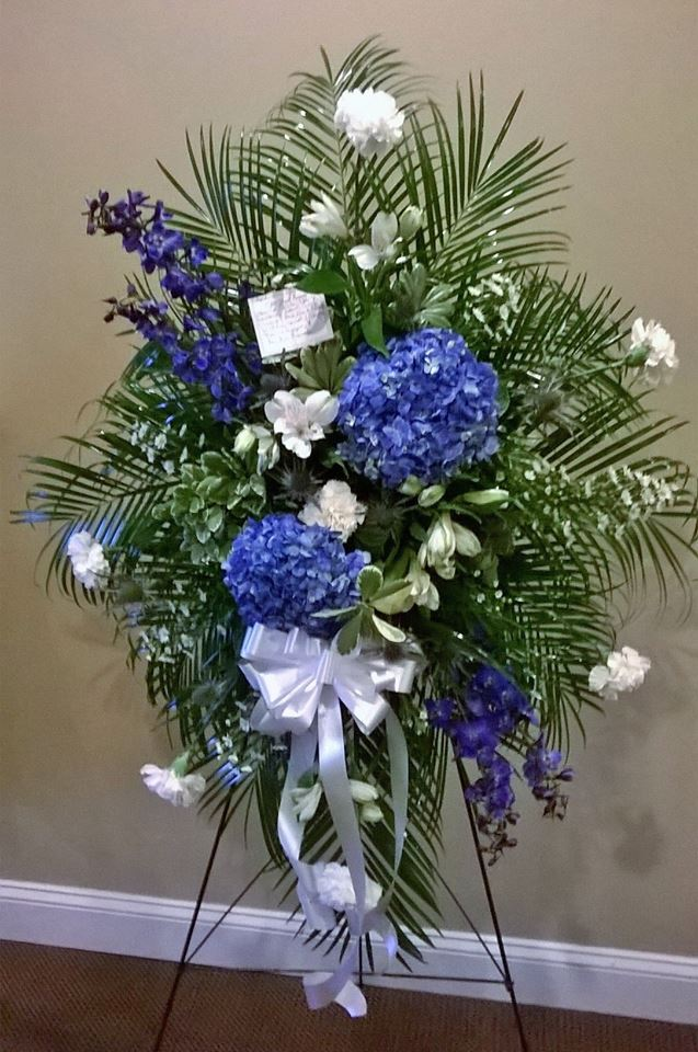 Elegant standing spray from Wilma's Flowers in Jasper, AL