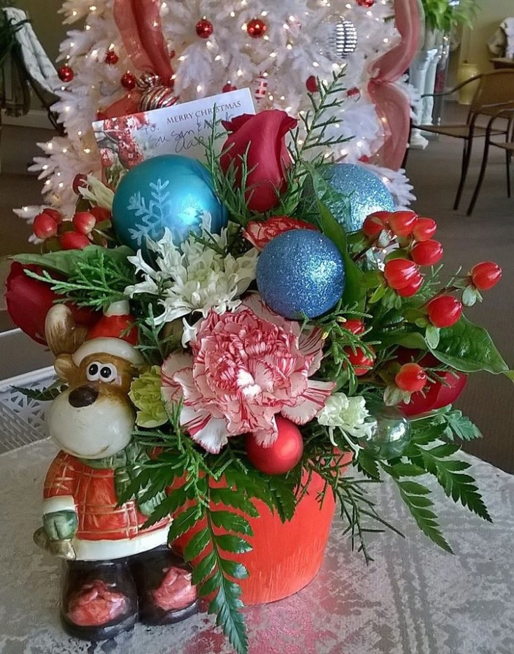 Fantastic holiday arrangement from Wilma's Flowers in Jasper, AL