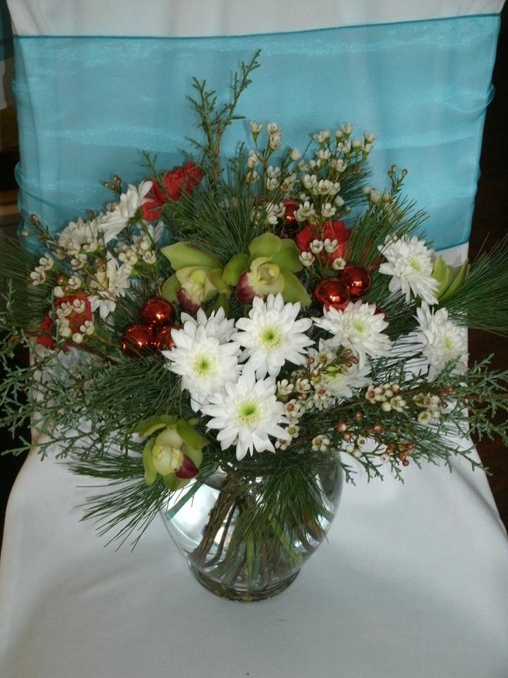 Holiday arrangement from Flowers For You, By Diana in Beeton, ON