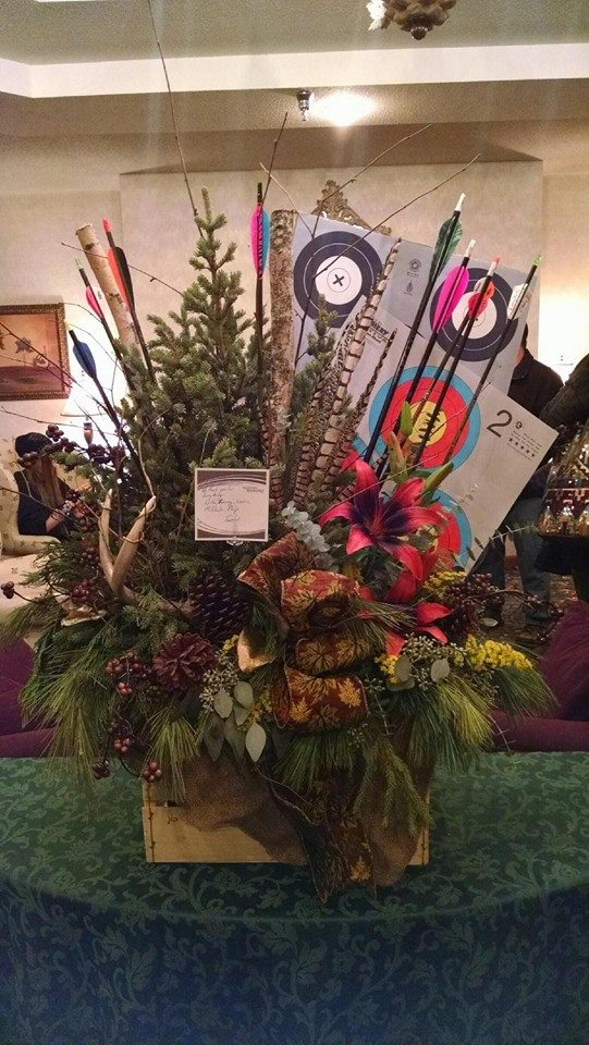 Honoring a member of an archery club at Petals to Pines Floral in Otsego, MN