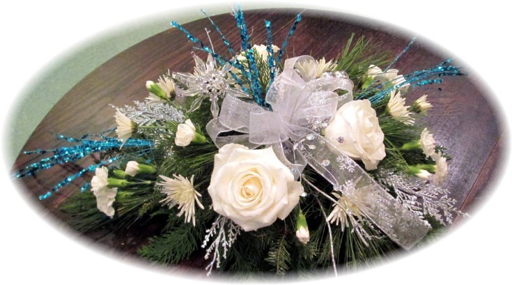 Icy and elegant inspired by Elsa from 'Frozen' at Inspirations Floral Studio in Lock Haven, PA