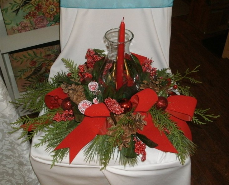 Lovely Christmas arrangement from Flowers For You, By Diana in Beeton, ON