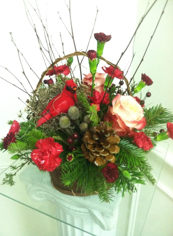 Lovely seasonal arrangement from Works of Heart Flowers in Wilton, NH