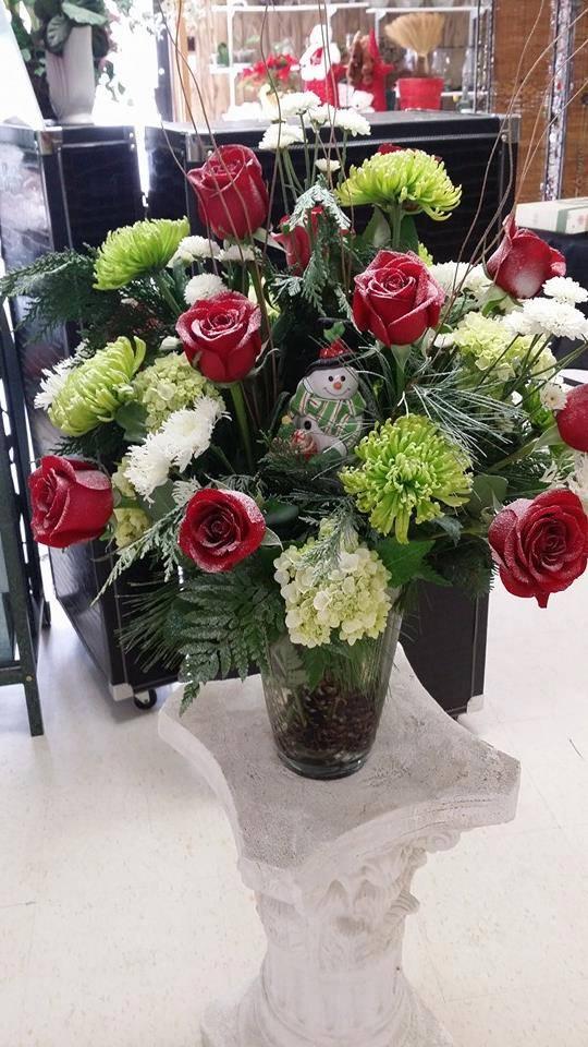 Lovely winter arrangement with Swannanoa Flower Shop in Swannanoa, NC