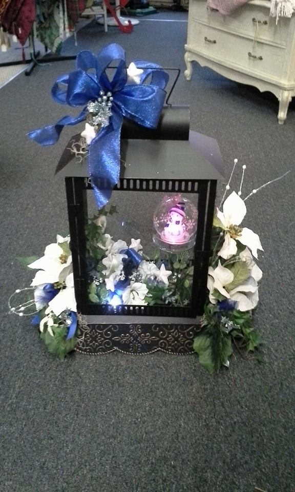 Magnificent lantern from Garden Gate Gift and Flowers in North Salem, IN