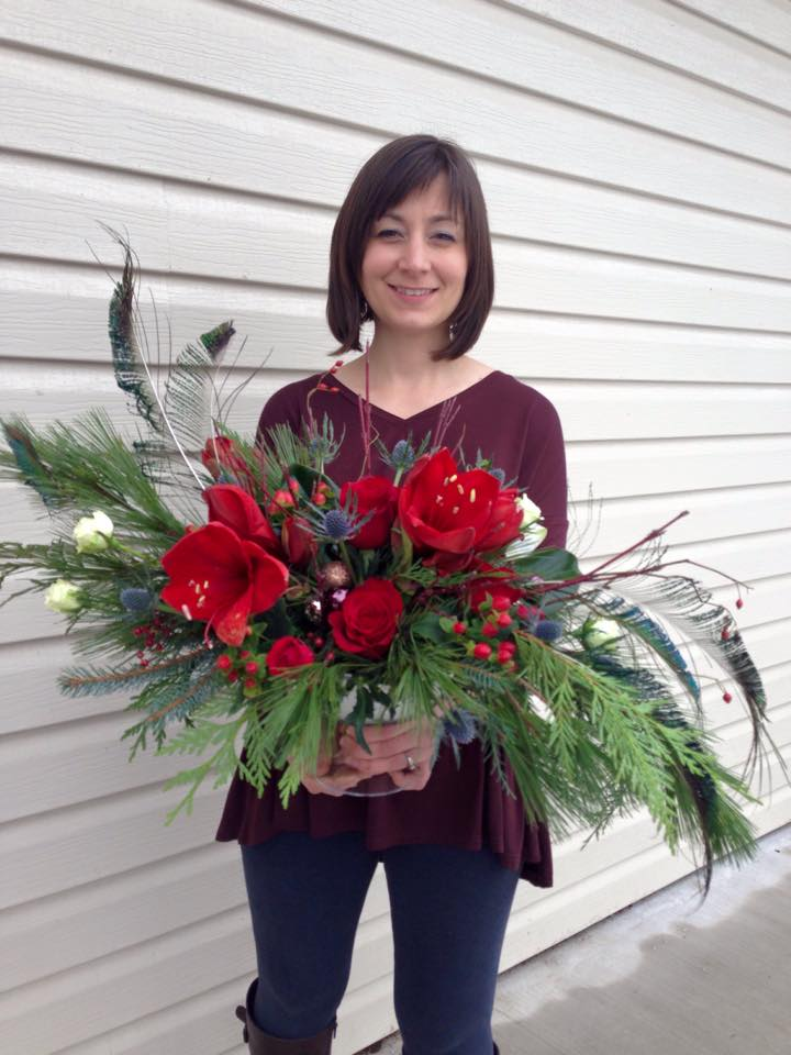 Personal holiday arrangement from Petals in Thyme of Wasaga Beach, ON