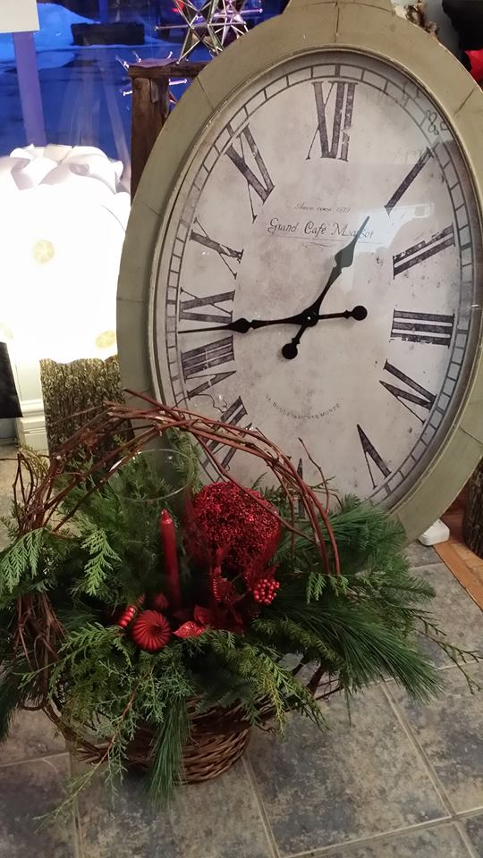 Showing off the greenery at BlueShores Flowers & Gifts in Wasaga Beach, ON