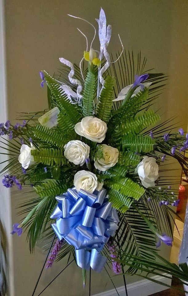 Sympathy spray from Wilma's Flowers in Jasper, AL
