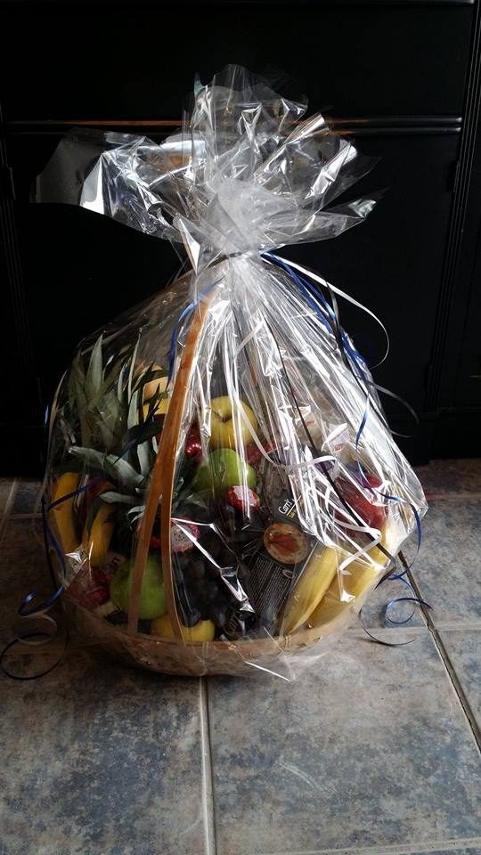 Yummy-looking fruit basket from BlueShores Flowers and Gifts in Wasaga Beach, ON