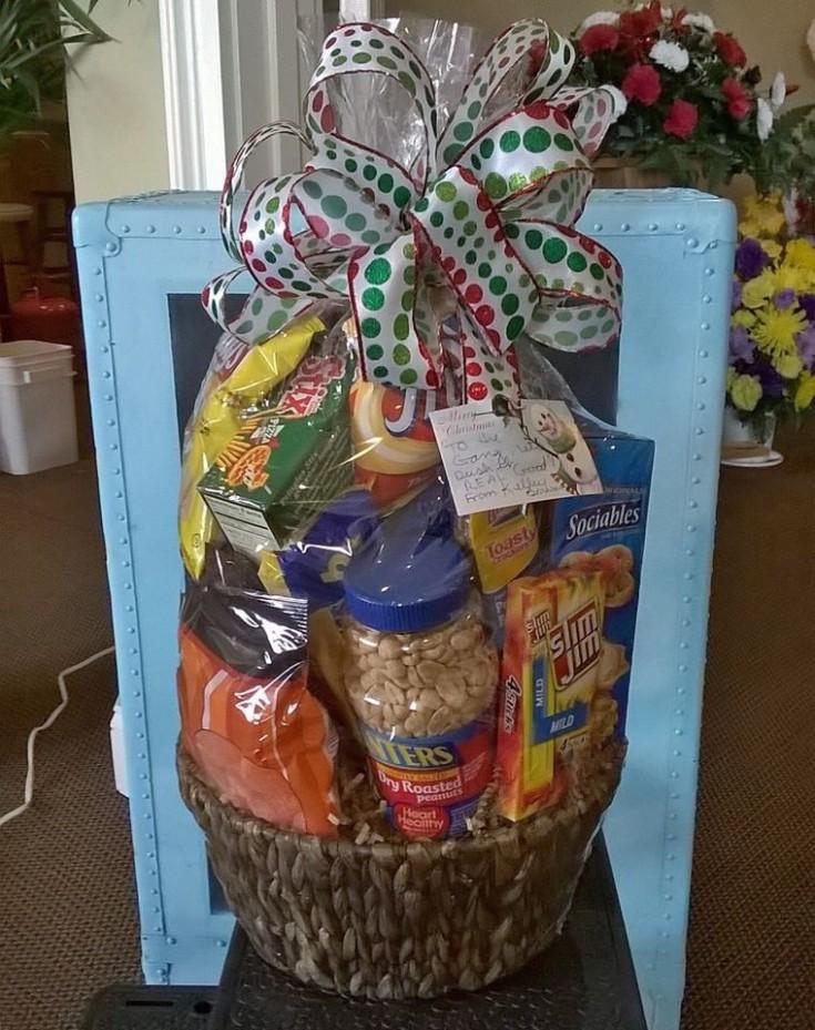 Yummy looking snack basket from Wilma's Flowers in Jasper, AL