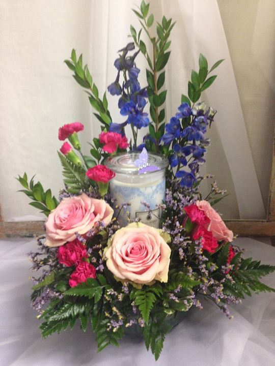 A customer favorite arrangement with gift by Michele's Floral and Gifts in Copperas Cove, TX