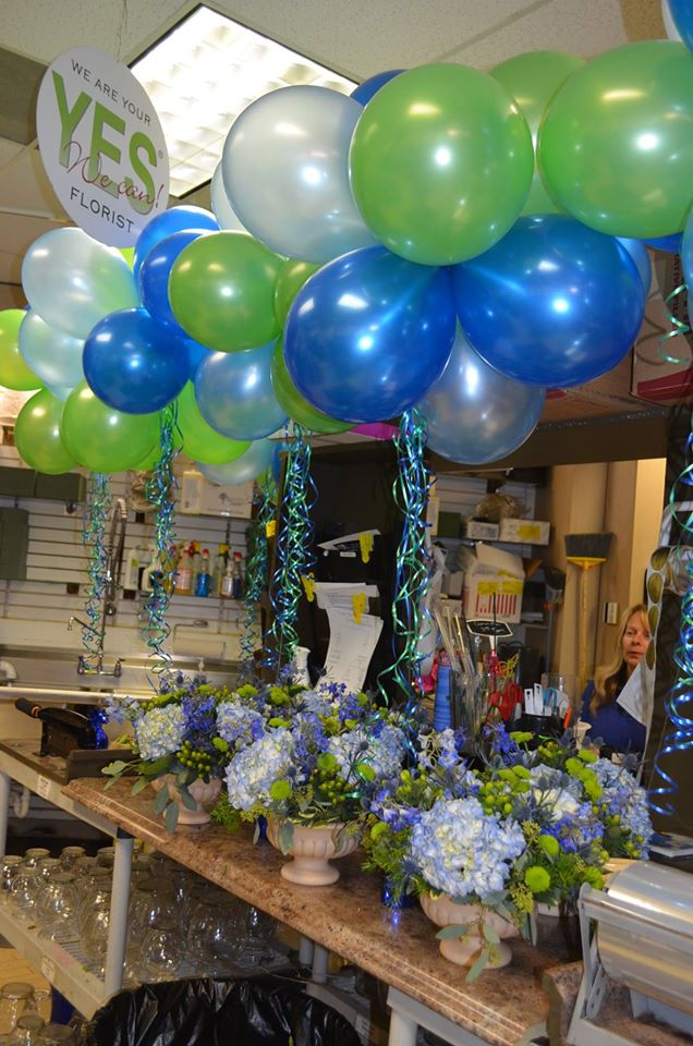 Beautiful party flowrs by Monday Morning Flower and Balloon Co. in Princeton, NJ