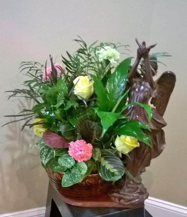 Charming arrangement from Wilma's Flowers in Jasper, AL