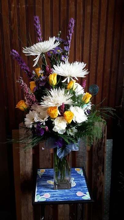 Dazzling thinking of you arrangement from Garden Gate Gift and Flower Shop in North Salem, IN