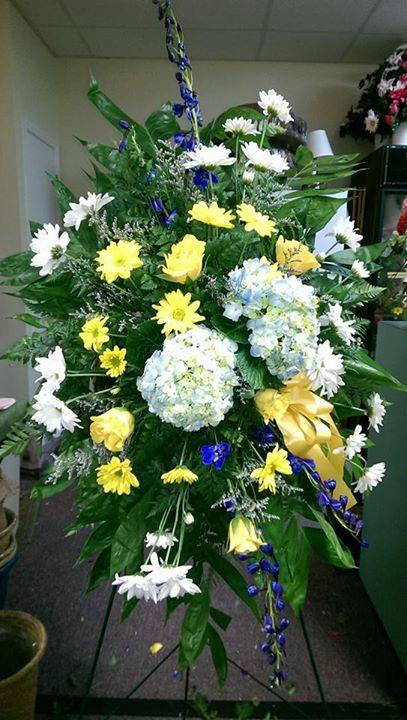 Excellent standing spray from Front Porch Creations Florist in Crawfordville, FL