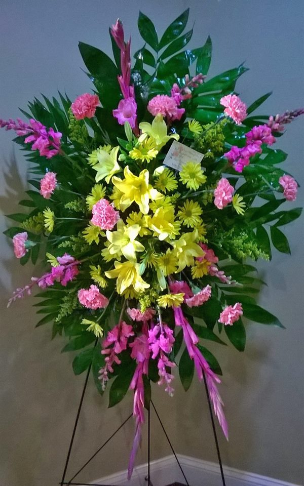 Fantastic standing spray from Wilma's Flowers in Jasper, AL