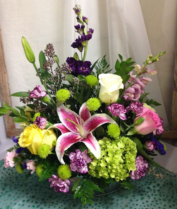Fun spring arrangement by Michele's Floral and Gifts in Copperas Cove, TX