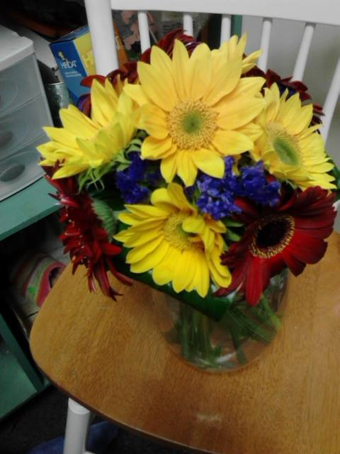Gerbera bridal bouquet by Front Porch Creations Florist in Crawfordville, FL