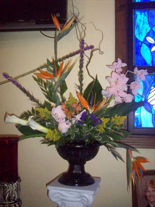 Stylish urn arrangement by Front Porch Creations Florsit in Crawfordville, FL